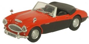 Cararama 1:43 - Austin Healey - Top Down Red/Black